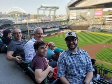 Some of the Engineering team at a Mariners Game